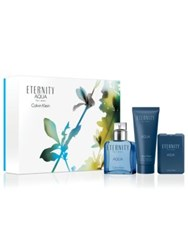 Calvin Klein Eternity Aqua Fathers Day Set 134.00 Value No Color