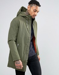 Pull And Bear Pullandbear Parka With Hood In Khaki Khaki Green