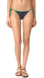 Diane Von Furstenberg Reversible String Bikini Bottoms Becket Black Surf Grey Viete
