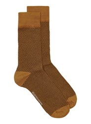 Selected Homme Orange Textured Socks