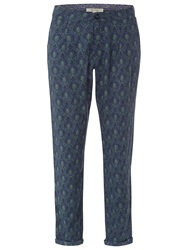 White Stuff Freya Print Trousers Blue