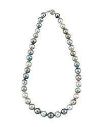 Belpearl Round Tahitian Pearl Princess Necklace 12X9mm