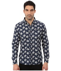 7 Diamonds Flourish Long Sleeve Shirt Navy Men's Long Sleeve Button Up