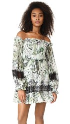 Nicholas Evergreen Off Shoulder Mini Dress Evergreen Floral