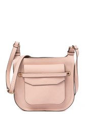 Steve Madden Saddle Faux Leather Crossbody Bag Blush