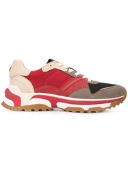 Coach Color Block Sneakers Red