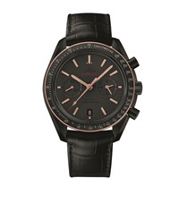 Omega Speed Master Sedna Black Moon Watch Unisex Silver