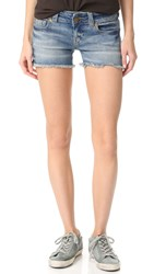 True Religion Keira Low Rise Shorts Gypset Blue