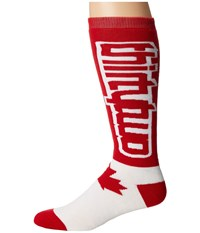 Thirtytwo Nations Sock Red White Men's Crew Cut Socks Shoes