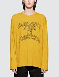 Carhartt Work In Progress W' Wip Division Embroidery Long Sleeve T Shirt