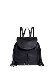 Sam Edelman 'Fifi' Fringe Leather Backpack Black