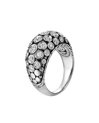 John Hardy Dot Pave Diamond Dome Ring