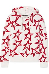 Perfect Moment Starlight Printed Cotton Jersey Hoodie White
