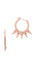 Luv Aj The Crown Hoop Earrings Antique Rose Gold
