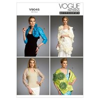 Vogue Women's Shrug Bolero And Wrap Sewing Pattern 9045