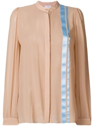 Vionnet Stripe Detail Floaty Blouse Nude And Neutrals