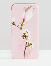 Ted Baker Tablet Iphone 8 Mirror Case In Harmony Floral Pale Pink