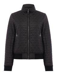Andrew Marc New York Quilted Bomber Jacket Black