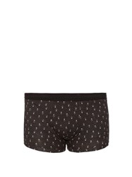 Dolce And Gabbana Polka Dot Print Boxer Trunks Black Multi