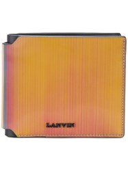 Lanvin Bifold Wallet Calf Leather Lamb Skin Polyester Abaca Multicolour
