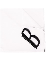 Barrie Logo Embroidered Scarf 60