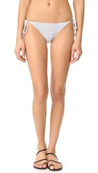Eberjey Bikini Lines Kate Tie Side Bottoms Ivory Black