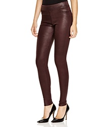 James Jeans Pull On Leggings Black Red Gloss