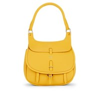 Fontana Milano 1915 Chelsea Small Leather Saddle Bag Yellow