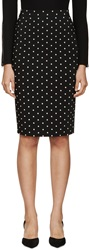 Givenchy Black And White Cross Print Cady Skirt