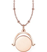 Thomas Sabo 18Ct Rose Gold Spinning Coin Engravable Necklace