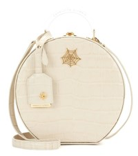 Charlotte Olympia Atkinson Embossed Leather Shoulder Bag Beige