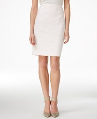 Calvin Klein Petite Pencil Skirt Petal White