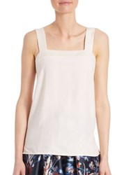 Lk Bennett Salli Silk Sleeveless Top Cream