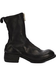 Guidi Zipped Front Boots Horse Leather Leather Black