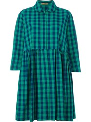 Peter Jensen Checked Shirt Dress Green