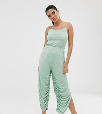 South Beach Yoga Romper In Mint Green