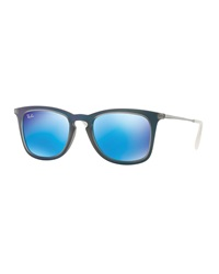 Wayfarer Plastic Sunglasses Blue Gray Ray Ban
