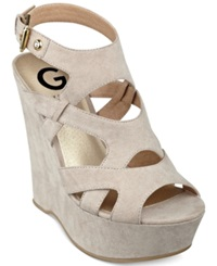 G By Guess Women's Hizza Platform Wedge Sandals Women's Shoes