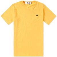 Comme Des Garcons Play Colour Series Little Black Heart Tee Yellow