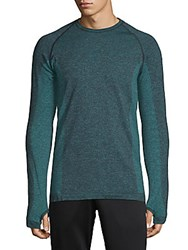 Hpe Cross X Seamless Raglan Sleeve Top Lagoon