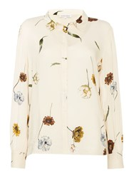 Second Female Katy Floral Print Shirt Off White