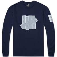 Undefeated Long Sleeve 5 Strike Jersey Tee Navy