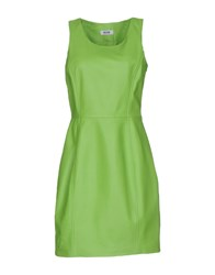 Moschino Cheap And Chic Short Dresses Acid Green