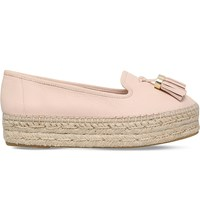 Carvela Liberty Leather Espadrilles Pale Pink