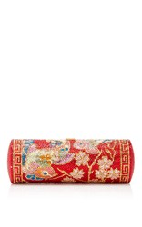 Judith Leiber Couture Pao Roll Clutch Red