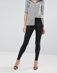 New Look Coated Skinny Jeans Black