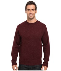 Pendleton Shetland Crew Sweater Maroon Heather Men's Sweater Burgundy