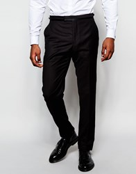 Reiss Tuxedo Suit Trousers In Slim Fit Bordeaux