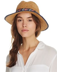 Echo Panama Hat With Interchangeable Bands Navy Beige