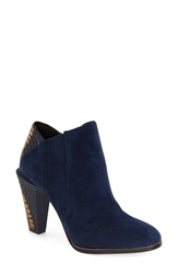 L.A.M.B. 'Maze' Round Toe Ankle Boot Women Blue Suede